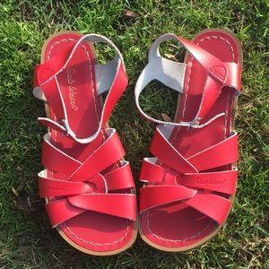 Red Saltwater Sandals